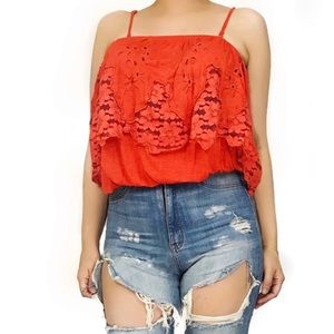 Free people lace crop
